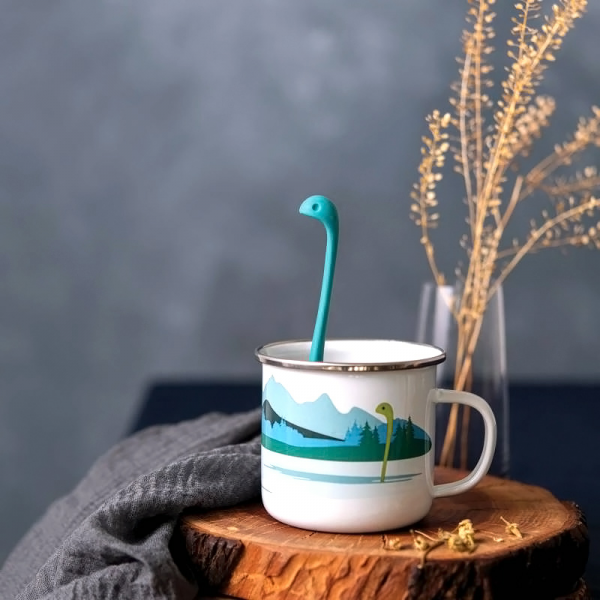 Enamel cup & infuser - Cup of Nessie