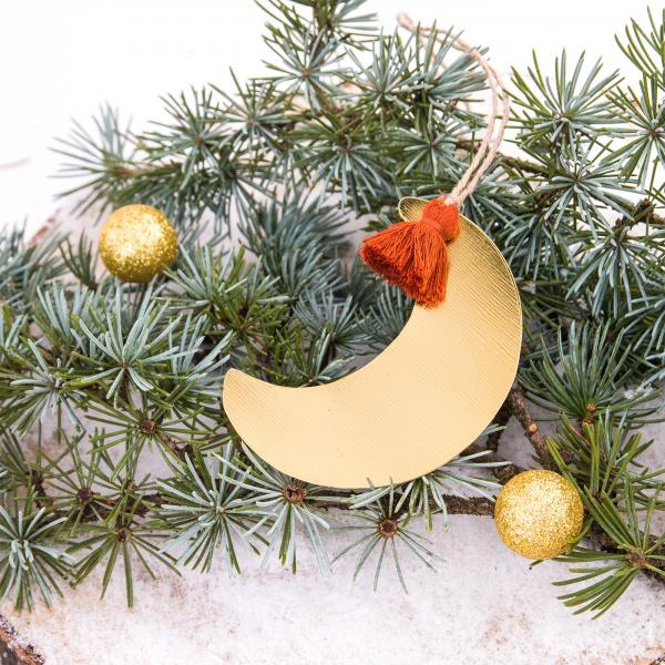 Hanging ornament - Golden moon