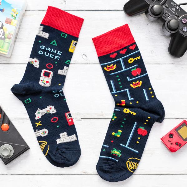 Many Mornings socks - Game over