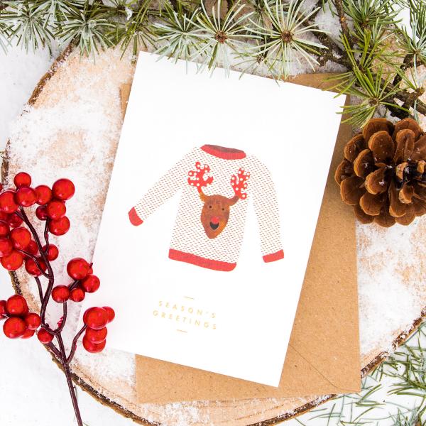 Christmas card - Christmas jumper