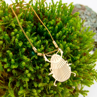Necklace - Scarabée