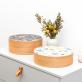 Wood storage box - Campanules (S)