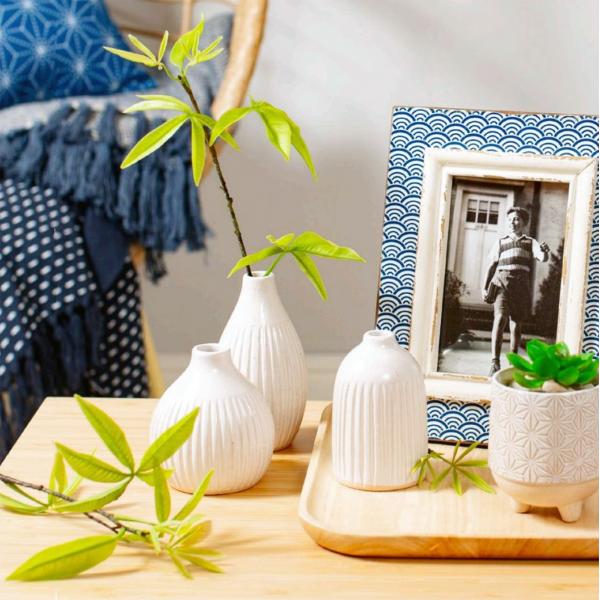 Set of 3 tiny vases - Geo
