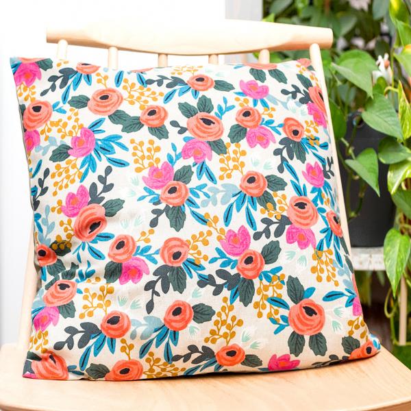 Rifle Paper cushion - Rosa