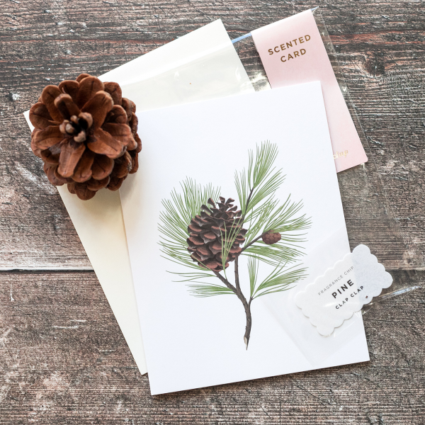 Botanical scented card - Pine