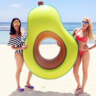 Inflatable avocado float pool