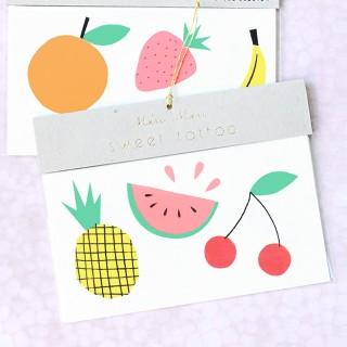 Meri Meri tattoo - fruits