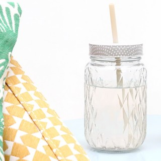 Diamond drinking jar