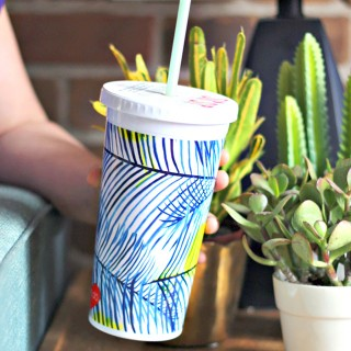 Sip sip tumbler- holiday palms