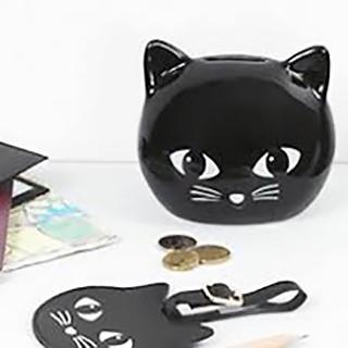 Black cat money box