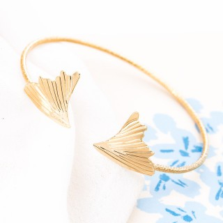 Fold bangle - Ginkgo Biloba