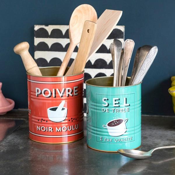 Storage tin set - Poivre & sel