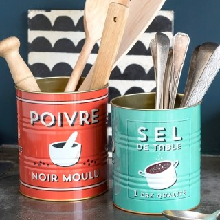 Storage tin set - Poivre & sel