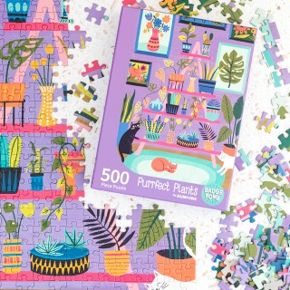 Jigsaw puzzle - Purrfect plants