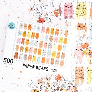 Jigsaw puzzle - Paper bears