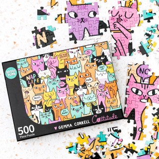 Jigsaw puzzle - Cattitude