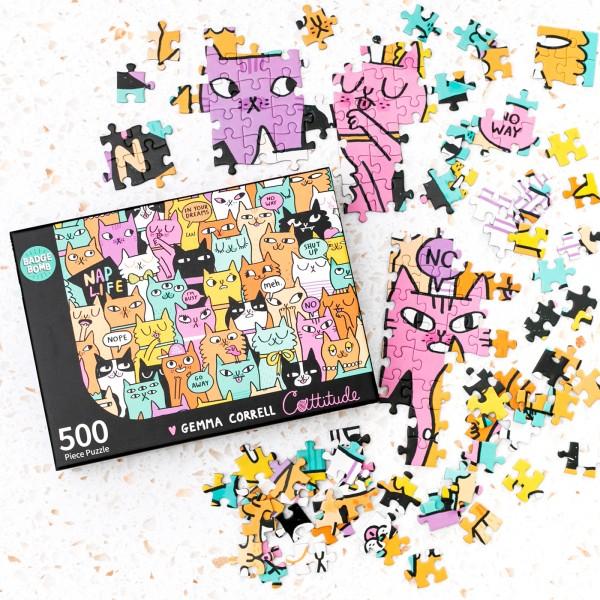 Jigsaw puzzle - Cattitude