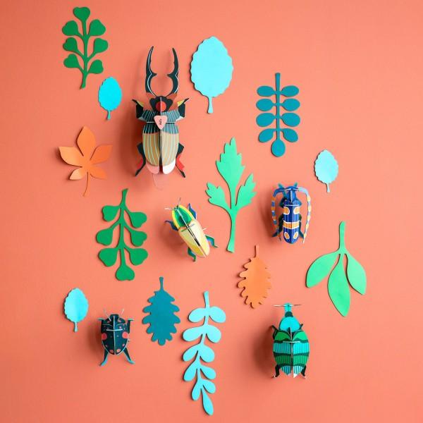 Studio ROOF deco - Wall of curiosities (beetle antiquary)