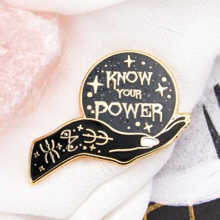 Pin's Glitter Punk - Know your power