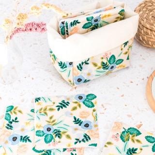 Reusable makeup remover pads - Rifle paper (Primavera flowers)