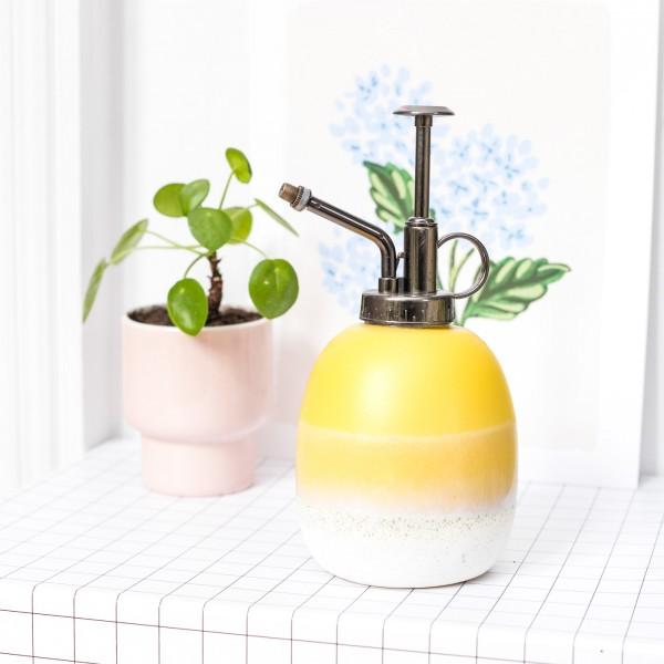 Ceramic plant mister - Mojave (yellow)