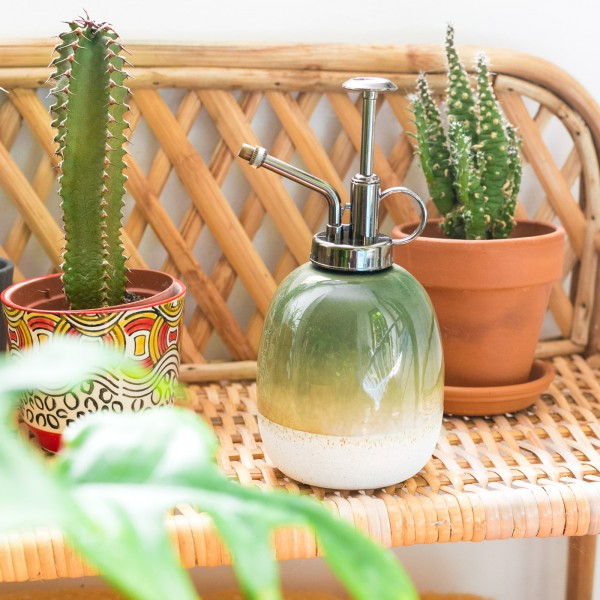 Ceramic plant mister - Mojave (green)
