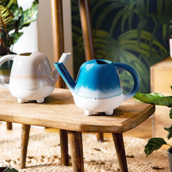 Ceramic watering can - Mojave (blue)