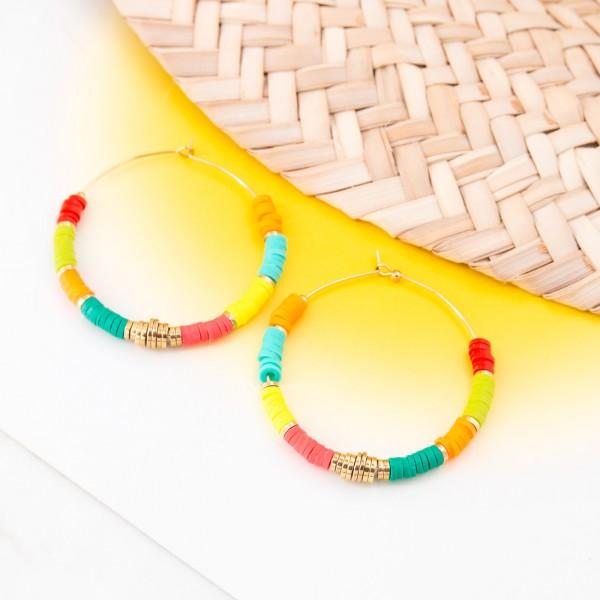 Hoop earrings - Imibala