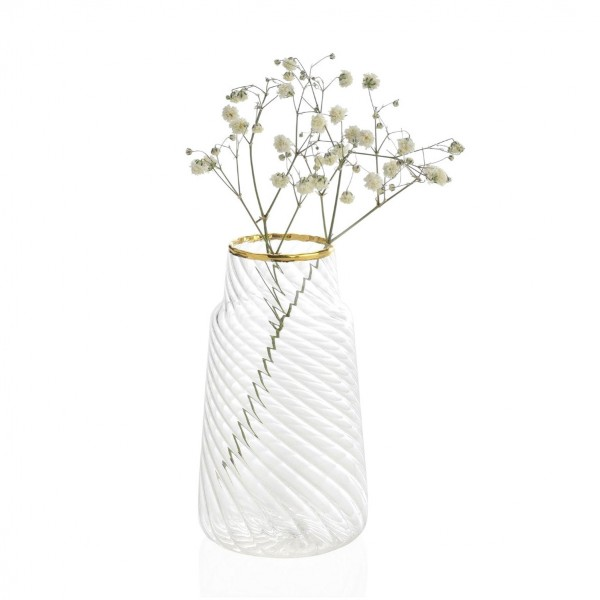 Gold glass vase - Juliet