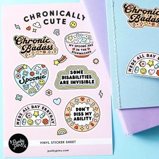 Sticker sheet - Chronically cute