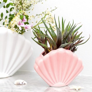 Planter / vase - Small shell (pink)