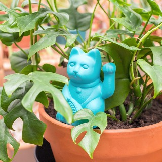 Watering spike - Lucky cat (blue)