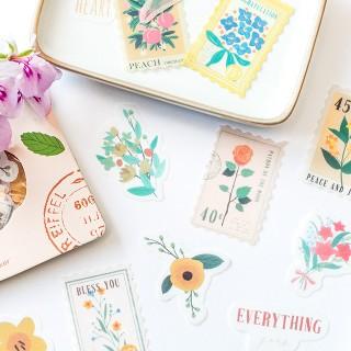 Stickers - Fleurs rétro