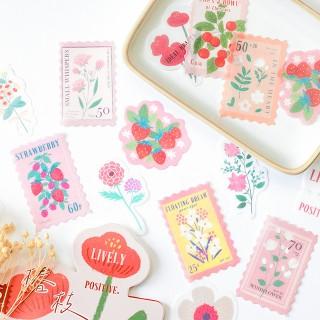 Stickers - Retro flowers (pink)