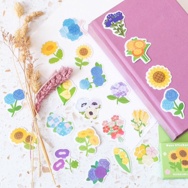 Stickers - Colorful flowers