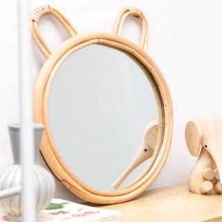 Rattan mirror - Bear