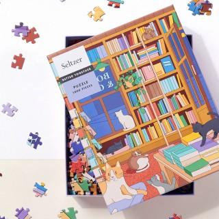 Seltzer Goods jigsaw puzzle - Cat bookshop