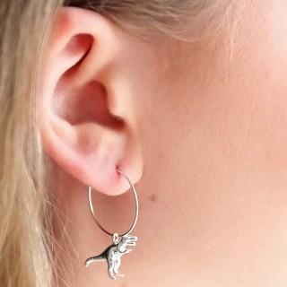 Hoop earrings - Stegosaurus