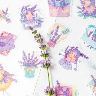 Stickers - Flowers (lavender)