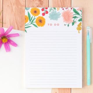 Notepad - Jardin d'automne