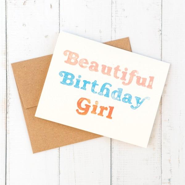 Daydream Prints birthday card - Beautiful birthday girl