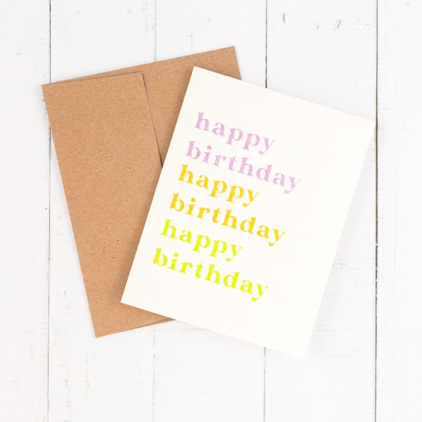 Daydream Prints birthday card - Happy birthday colorful