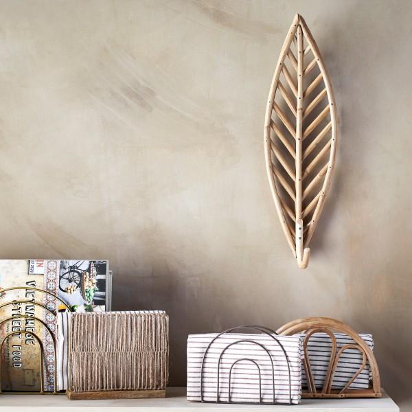 Bamboo wall hook - Leaf