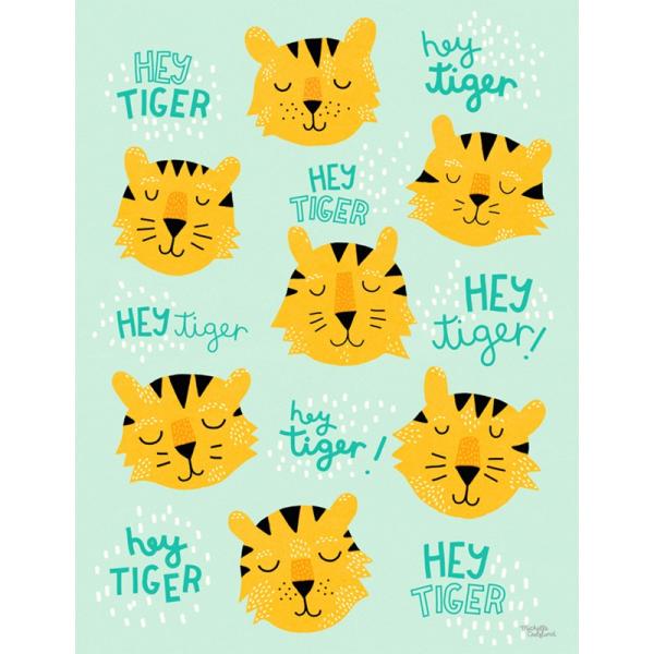 Hey tiger - print