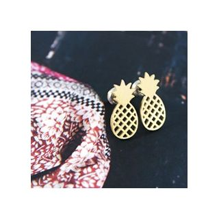 Gold pineapples studs