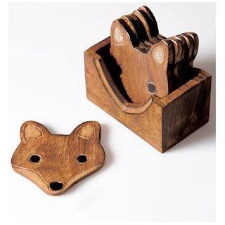 Mango fox coasters
