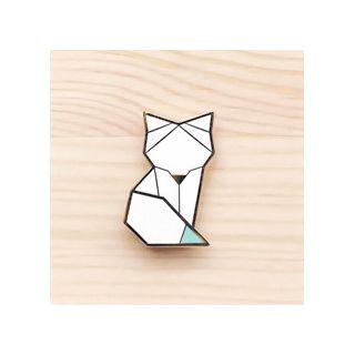 Broche - Arctic snow fox