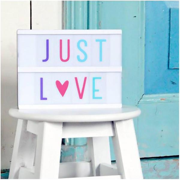 Lightbox pastel letters set