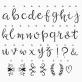 Lightbox script letters set