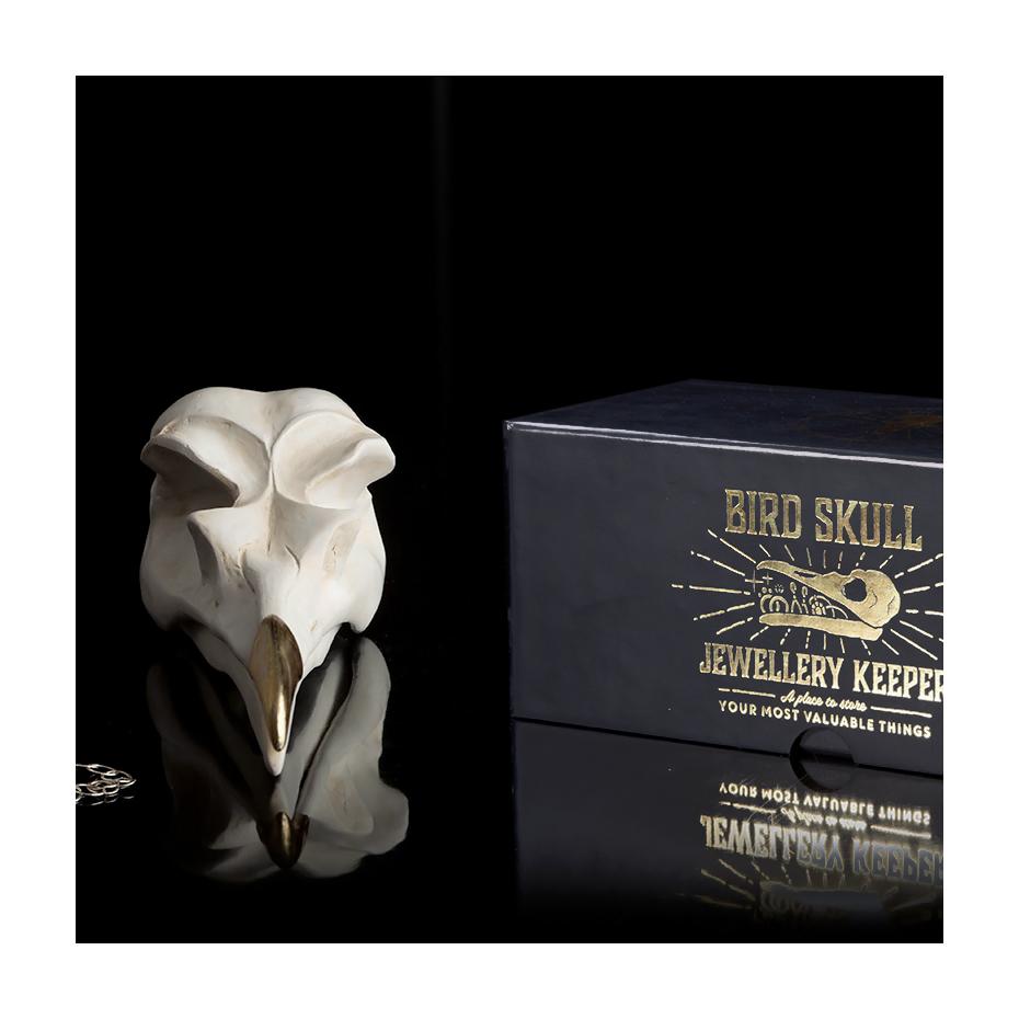 bb720a280 Bird skull jewellery keeper by Suck UK